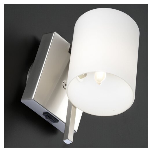 Studio Italia Design Minimania 1 Light Wall or Ceiling Fixture with Blown Glass Diffuser and On-Off Switch