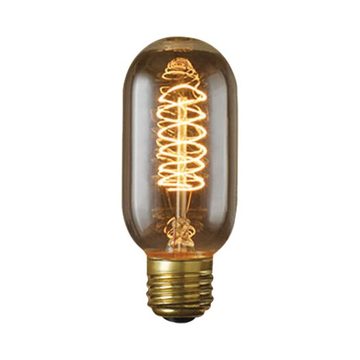 Bulbrite Industries 40W Amber 120-Volt Incandescent Light Bulb