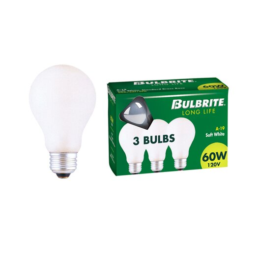 Bulbrite Industries 60W 120-Volt (2700K) Incandescent Light Bulb (Pack of 3)