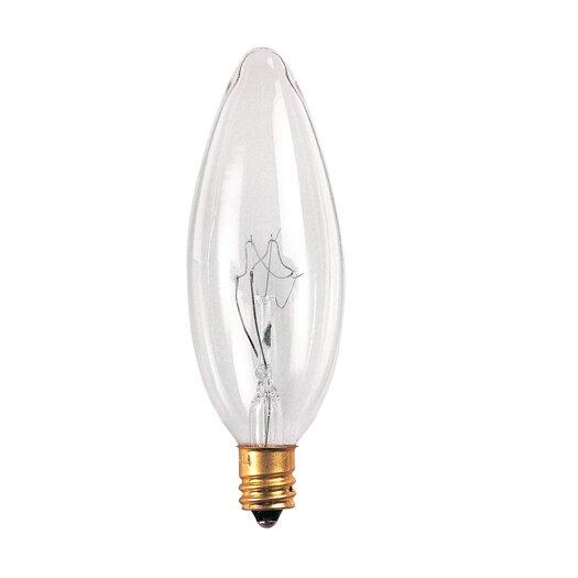 Bulbrite Industries Candelabra 25W 220-Volt (2700K) Incandescent Light Bulb