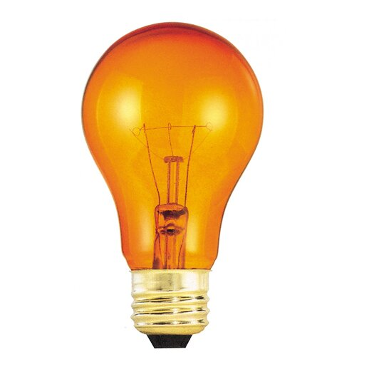 Bulbrite Industries Transparent Orange (2700K) Incandescent Light Bulb (Pack of 12)