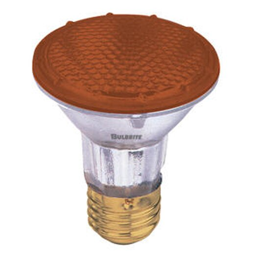 Bulbrite Industries 50W Amber 120-Volt Halogen Light Bulb