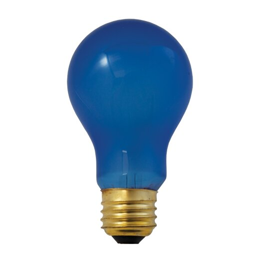 Bulbrite Industries 60W Blue Incandescent Light Bulb (Pack of 6)
