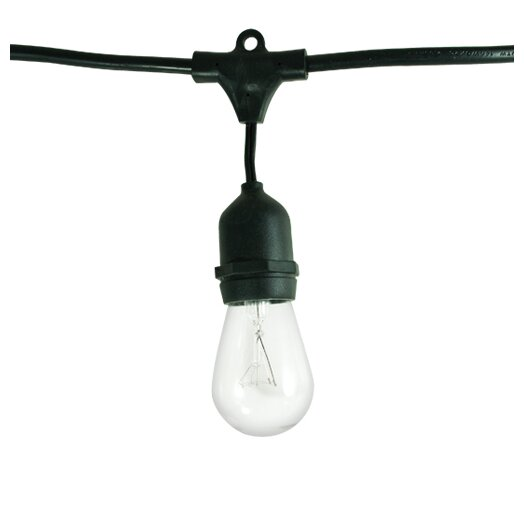 Bulbrite Industries 15 Light Outdoor String Light