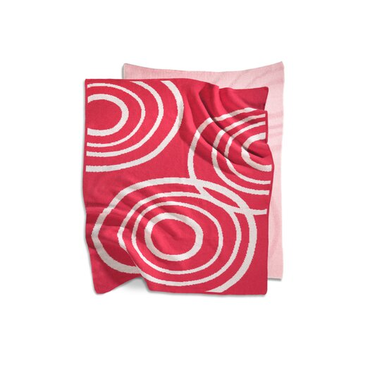 Organic Knit Blanket in Blossom Pink