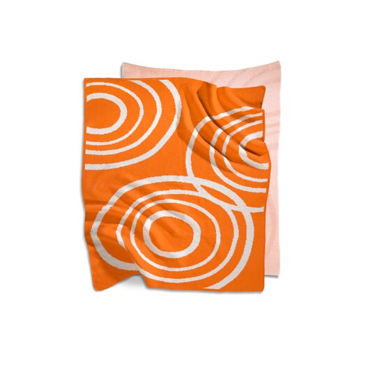 Organic Knit Blanket in Poppy Orange