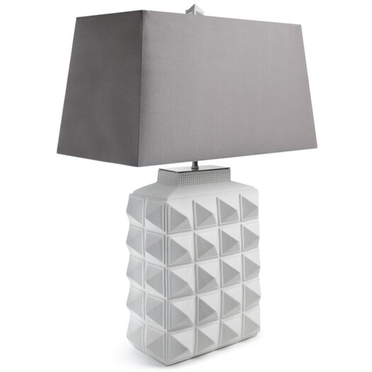 """Jonathan Adler Charade Studded 23.4"""" H Table Lamp with Rectangle Shade"""