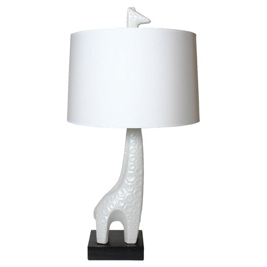 "Jonathan Adler Utopia Giraffe 29"" H Table Lamp with Drum Shade"