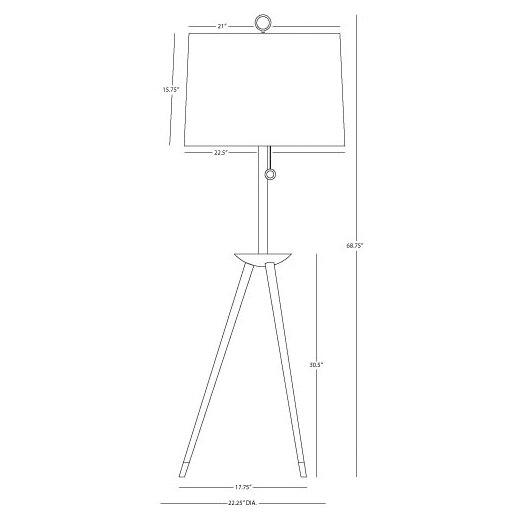Jonathan Adler Jonathan Adler Ventana Tripod Floor Lamp