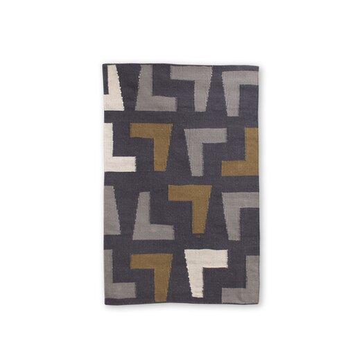 Jonathan Adler Arthur Kilim Slate/Grey Area Rug