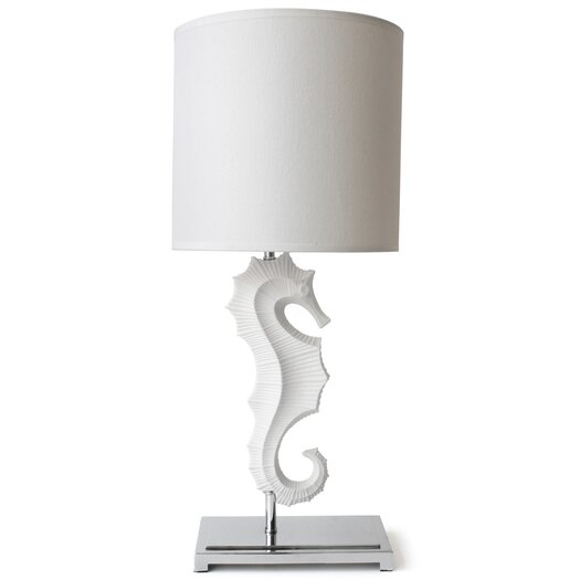 """Jonathan Adler Seahorse 25"""" H Table Lamp with Drum Shade"""
