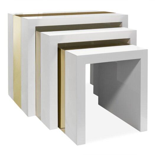 Jonathan Adler Lacquer Laminate 3 Piece Nesting Table Set