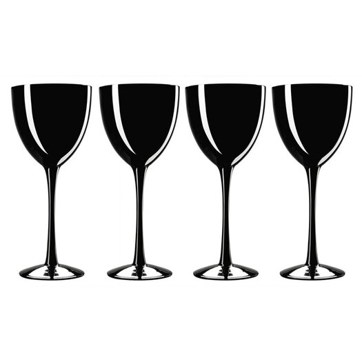Noritake Palais Black Dessert Wine Glass