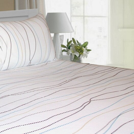Tribeca Living Dot Printed Extra Deep Pocket Flannel Sheet Set