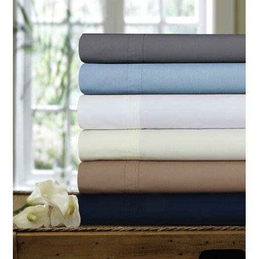 Tribeca Living 300 Thread Count Egyptian Cotton Percale Deep Pocket Sheet Set
