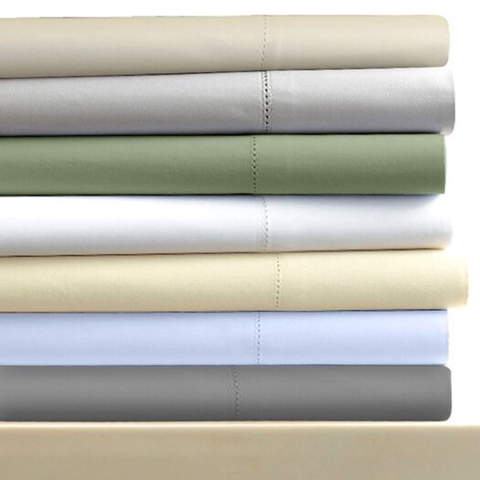 Tribeca Living 600 Thread Count 6-Piece Egyptian Cotton Sateen Deep Pocket Sheet Set