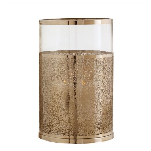 ARTERIORS Home Bombay Polished Nickel / Glass Hurricane