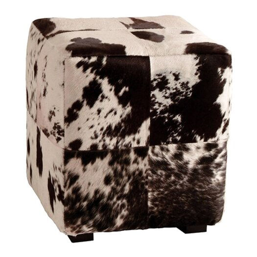 ARTERIORS Home Leather Cube Ottoman