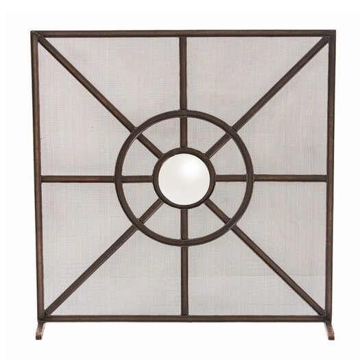 ARTERIORS Home Gemma 1 Panel Iron Fireplace Screen