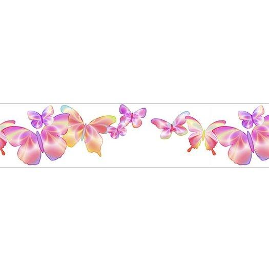 4 Walls Fluttering Butterfly Wallpaper Border