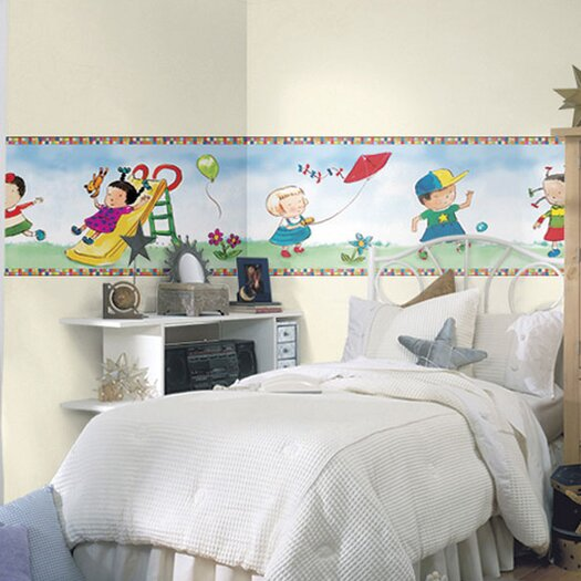 4 Walls Child's Play Mural Style Wallpaper Border