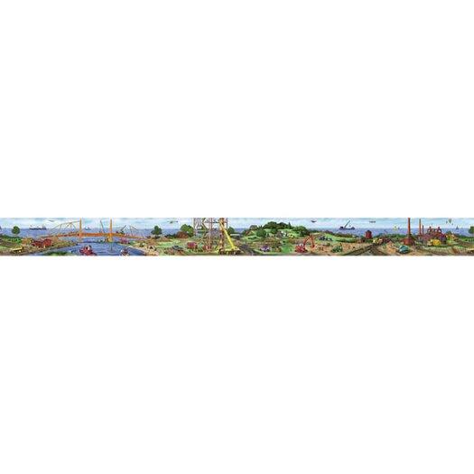 4 Walls Construction Panorama Mural Style Wallpaper Border