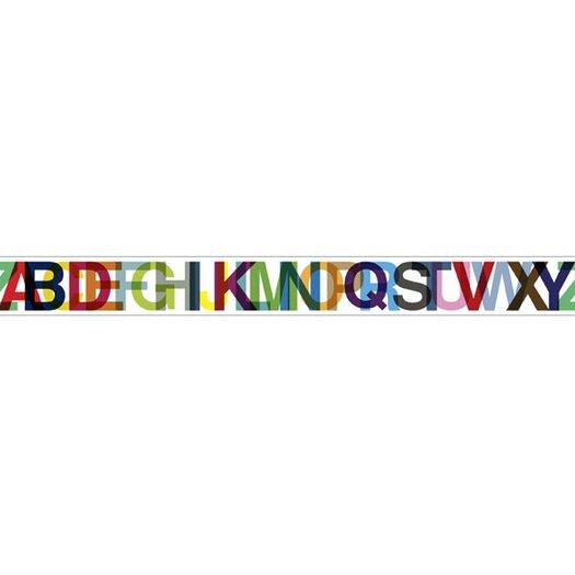 4 Walls Typeset Letters Mural Style Wallpaper Border
