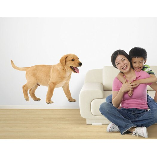4 Walls Puppy Love Yellow Lab Wall Decal