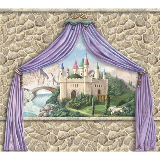 4 Walls Enchanted Kingdom Castle Canopy Wall Mural