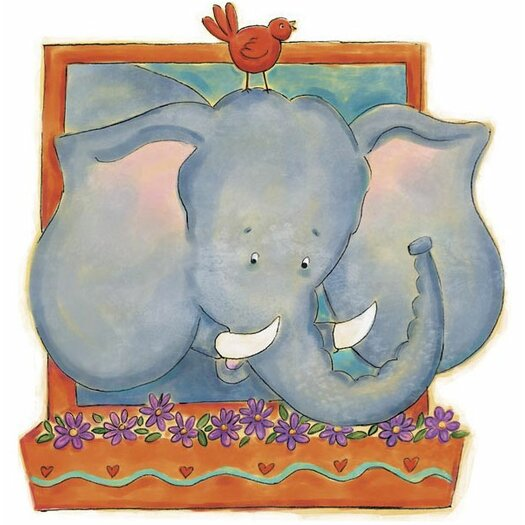 4 Walls Elephant Panel Wall Decal