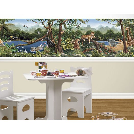 4 Walls Rainforest Mural Style Wallpaper Border