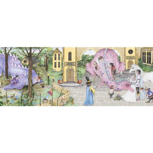 4 Walls Enchanted Kingdom Mural Style Wallpaper Border