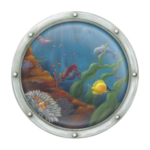 4 Walls Porthole Number 2 Accent Mural Wall Decal