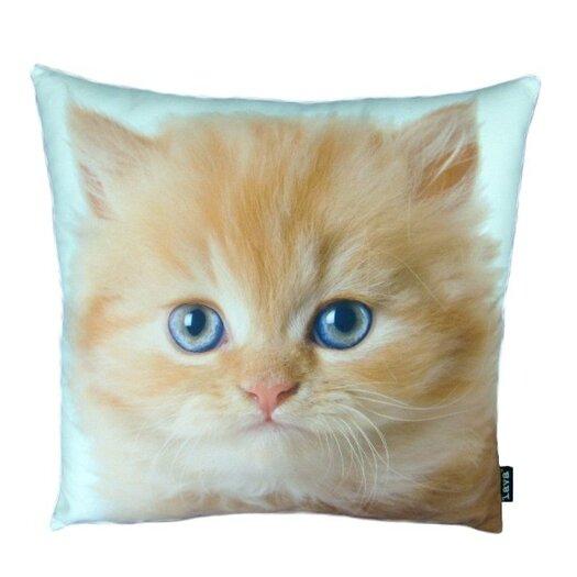 lava Persian Cat Throw Pillow