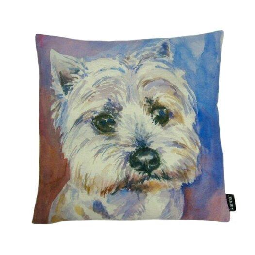 lava Westie Painted Pillow