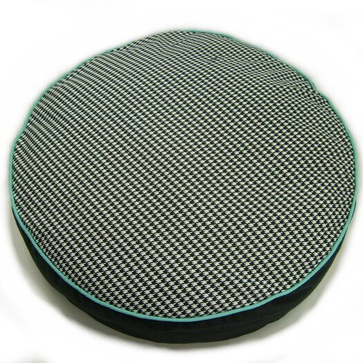 lava Houndstooth Round Dog Pillow