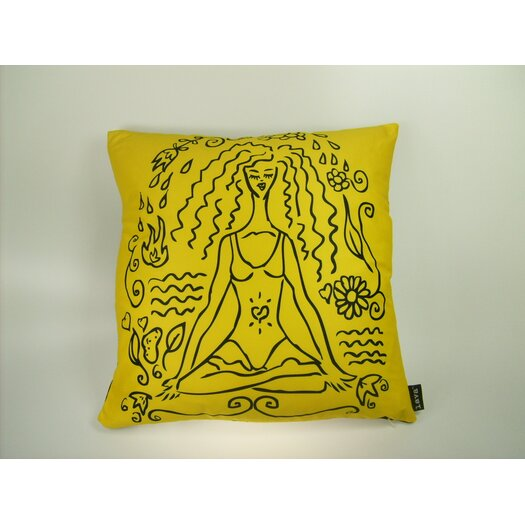 lava Lava Yoga Girl Feather Filled Pillow