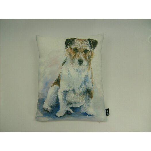 lava Lava Jack Russel Watercolor Feather Filled Pillow