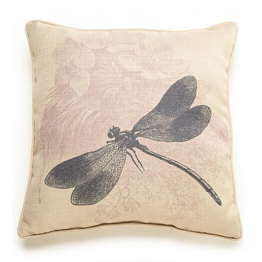 lava Dragonfly Etching Polyester Pillow
