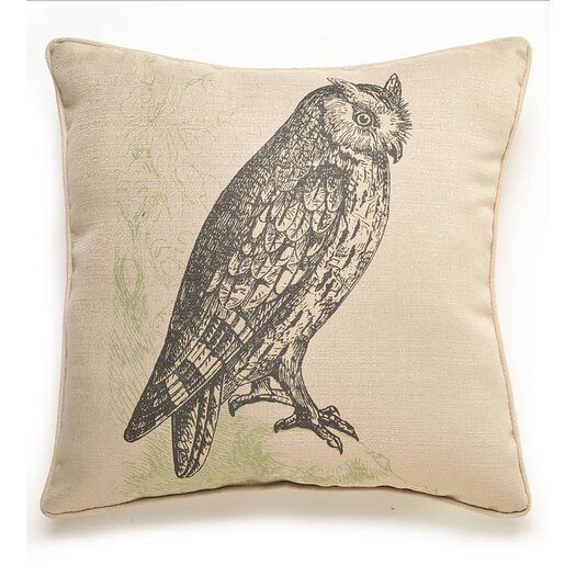 lava Lava Owl Etching Throw Pillow