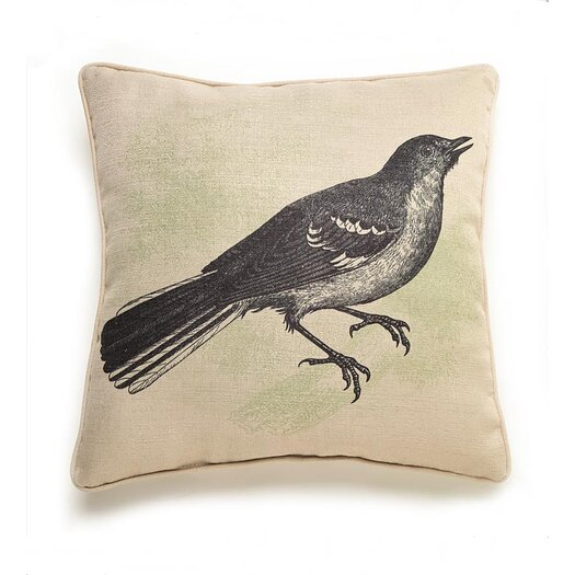 lava Bird Etching Polyester Pillow