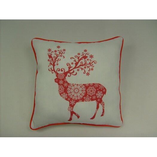lava Lava Reindeer Snowflake Pillow