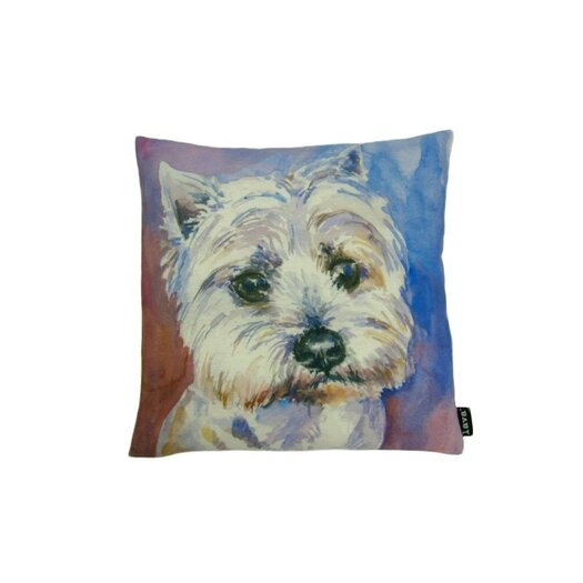 lava Lava Westie Watercolor Feather Filled Pillow