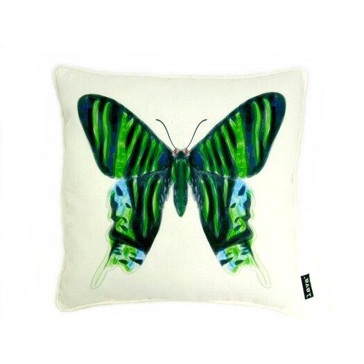 lava Noir Vert Polyester Pillow