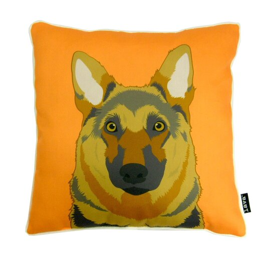 lava German Shepard Polyester Pillow
