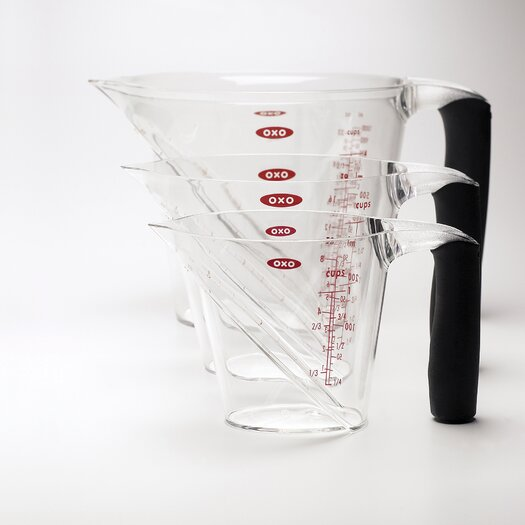 OXO Angled Measuring Cup Set (3-pc)