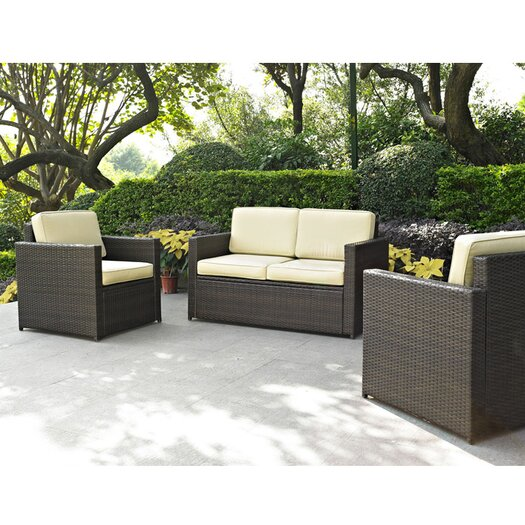 Crosley Loon Harbor 3 Piece Deep Seating Group with Cushions