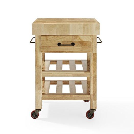 Crosley Kitchen Cart with Butcher Block Top