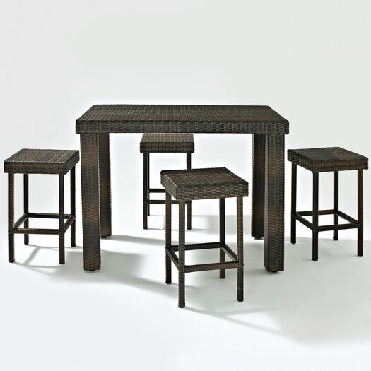 Crosley Palm Harbor 5 Piece Bar Height Dining Set