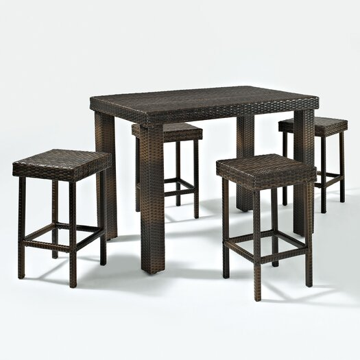 Crosley Palm Harbor 5 Piece High Dining Set